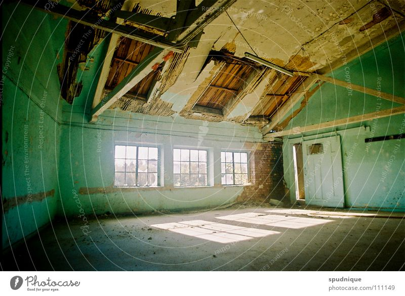 living room Past Factory Building Window Light Decline Calm Derelict Transience Sun Old Empty