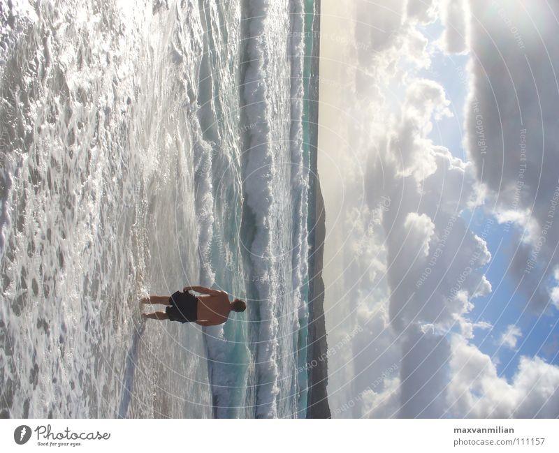 Human being Water Sky Ocean Beach Clouds Sand Waves Fear Panic