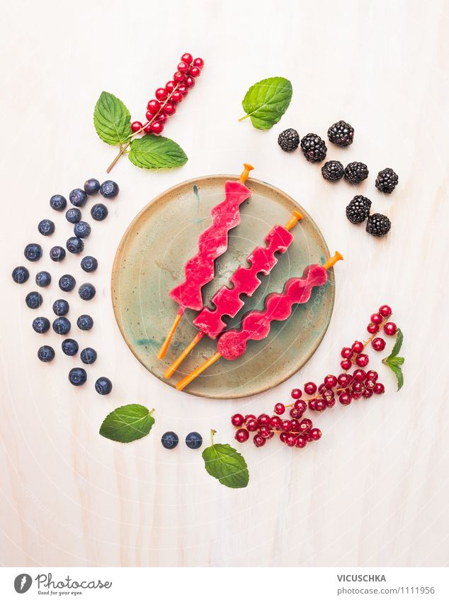 Berries water ice with summer berries Food Fruit Dessert Candy Nutrition Organic produce Vegetarian diet Diet Italian Food Juice Plate Style Design