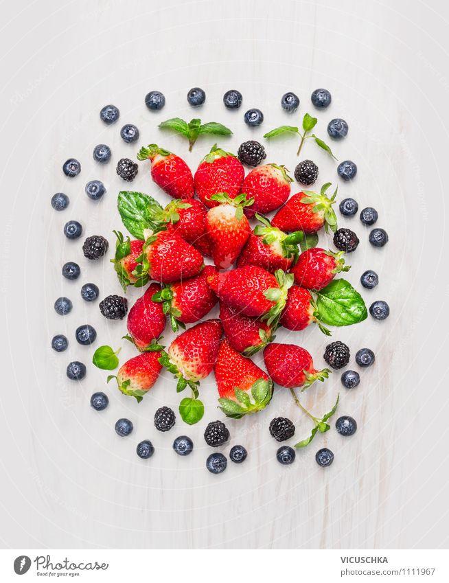 Blackberries, Blueberries, Strawberries Composing Food Fruit Dessert Nutrition Breakfast Organic produce Vegetarian diet Diet Juice Style Design Healthy Eating
