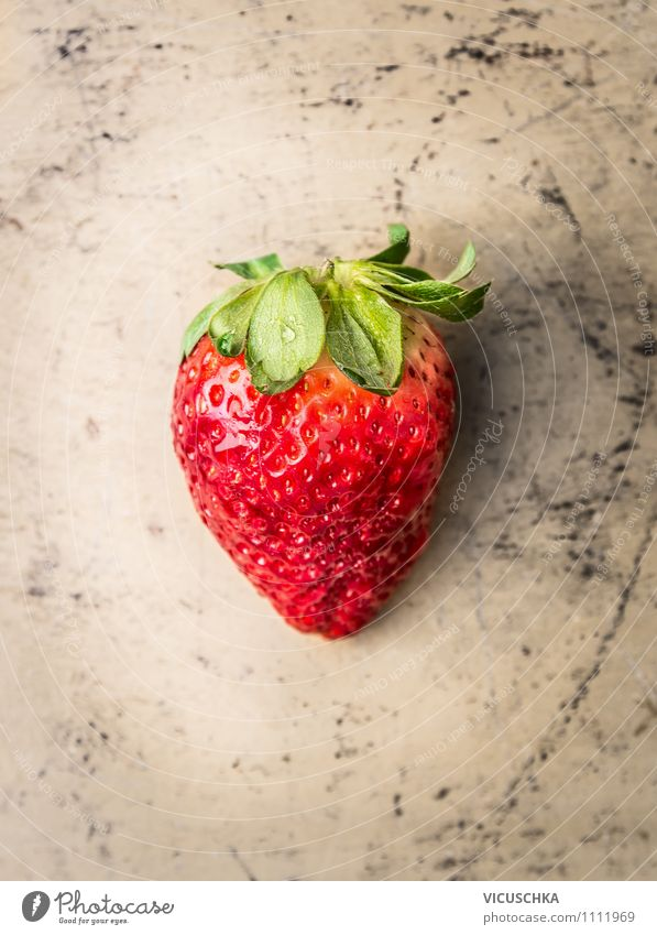 strawberry Food Fruit Dessert Nutrition Organic produce Vegetarian diet Diet Lifestyle Style Design Healthy Eating Summer Garden Nature big Strawberry