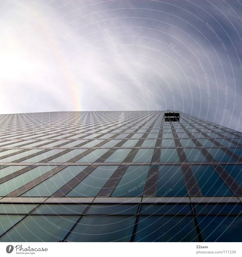Sky Blue Clouds Cold Work and employment Style Window Building High-rise Tall Perspective Modern Driving Floor covering Simple