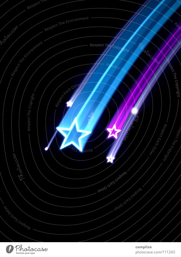 sorry my stars 2014 Design Lamp Art Shows Sky Stars Sign To fall Kitsch Blue Violet Universe Meteor The eighties Disco Light show Laser Planet Communism