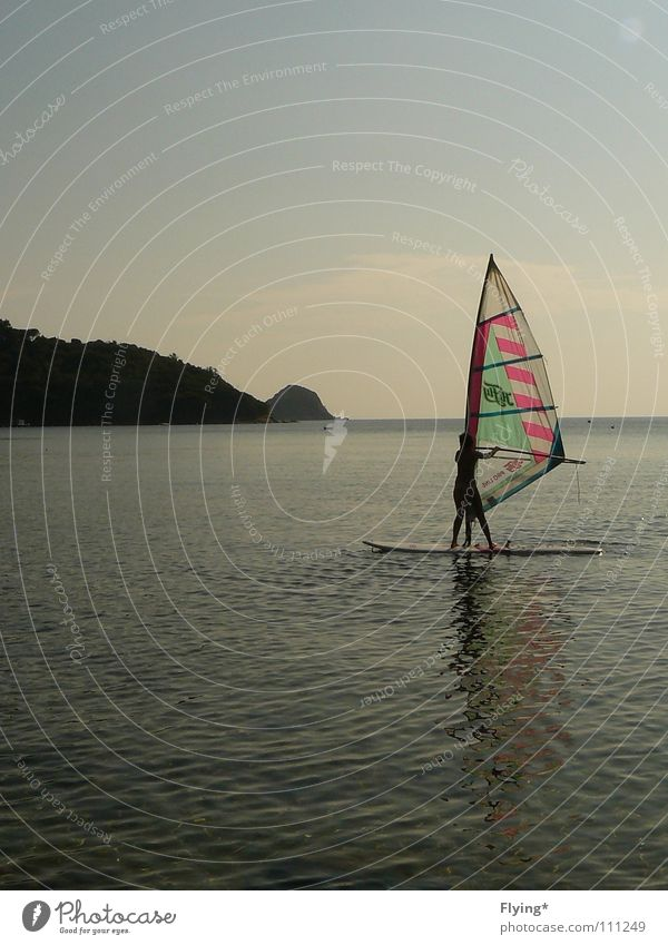 the surfer Surfer Windsurfing Places Ocean Vacation & Travel Woman Stand Calm Aquatics Healthy Leisure and hobbies Sky Water Blue Sail windwurfer Rock Bay Free