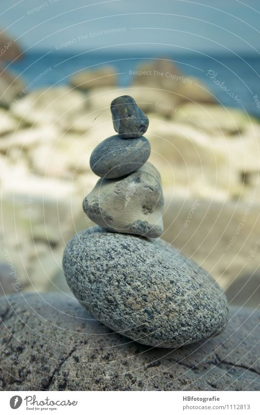 stackable Nature Coast Emotions Relaxation Serene Stone Ocean Stack Pebble Gravel beach Wellness Zen Patient Colour photo Exterior shot Deserted Blur