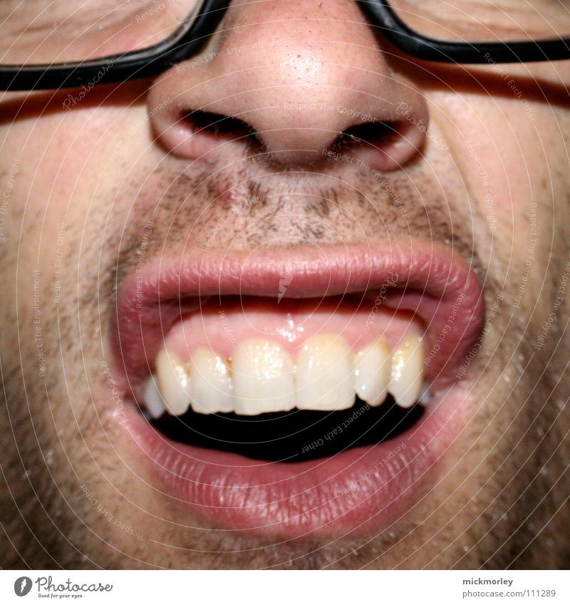 Beautiful White Red Joy Nose 3 Teeth Eyeglasses Lips Facial hair Acrobat Nostril