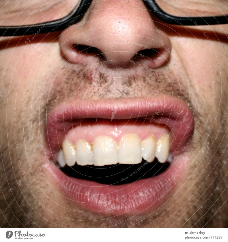 What's the aldde? Eyeglasses White Red Nostril Acrobat Facial hair Day 3 Beautiful Joy Lips Nose Teeth