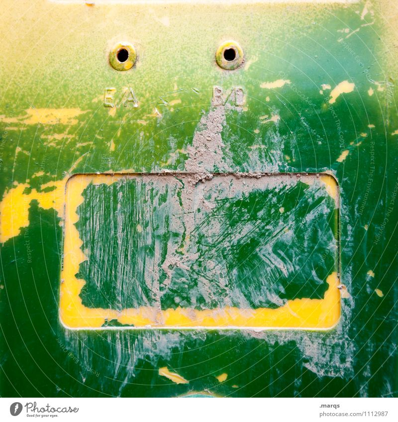 fright Style Face Plastic Funny Yellow Green Emotions Fear Horror Fear of death Colour Creativity Whimsical Colour photo Exterior shot Close-up Abstract
