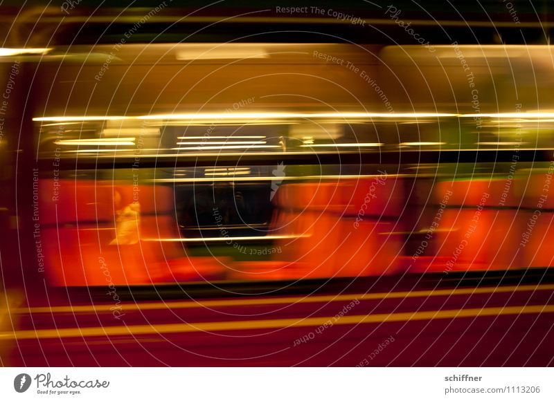 Vacation & Travel Red Black Travel photography Gold Speed Railroad Passenger traffic Means of transport Passage Traveling Train travel Rail transport