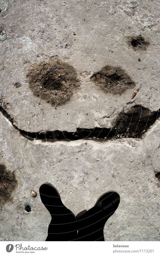 how you doin? Legs Feet 1 Human being Street Footwear Boots Stone Concrete Line Smiling Laughter Broken Emotions Moody Joy Happy Happiness