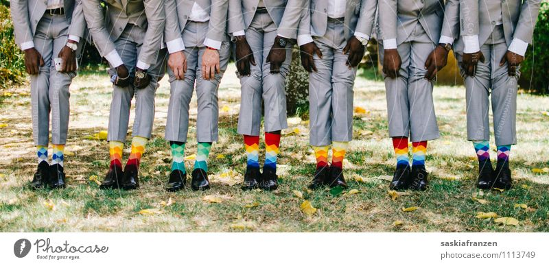 Of the socks... Lifestyle Feasts & Celebrations Wedding Human being Masculine Young man Youth (Young adults) Adults Legs Feet Group 18 - 30 years Fashion