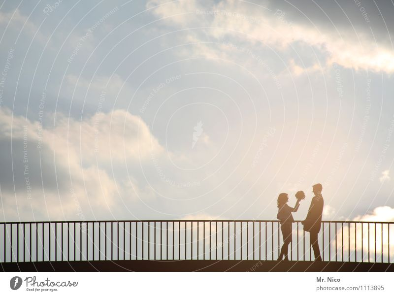 Human being Sky City Clouds Environment Street Love Feminine Happy Couple Lifestyle Together Friendship Masculine Leisure and hobbies Climate