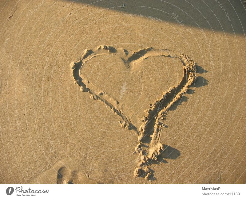 Heart in the sand Love Beach Ocean Vacation & Travel Lake Europe Summer Coast Sand Relaxation sea