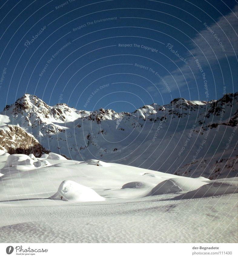 Sky White Blue Winter Clouds Cold Snow Mountain Landscape Brown Rock Switzerland Clarity Alps Idyll Peak