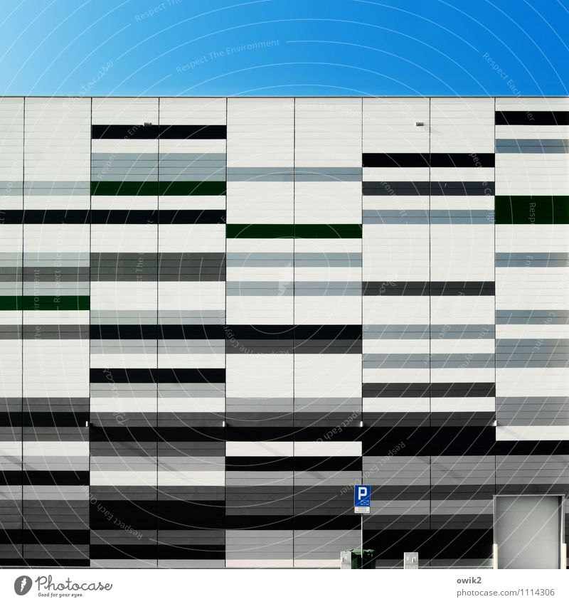 Blue White Black Wall (building) Architecture Building Wall (barrier) Gray Line Facade Signs and labeling Characters Signage Simple Stripe Industry