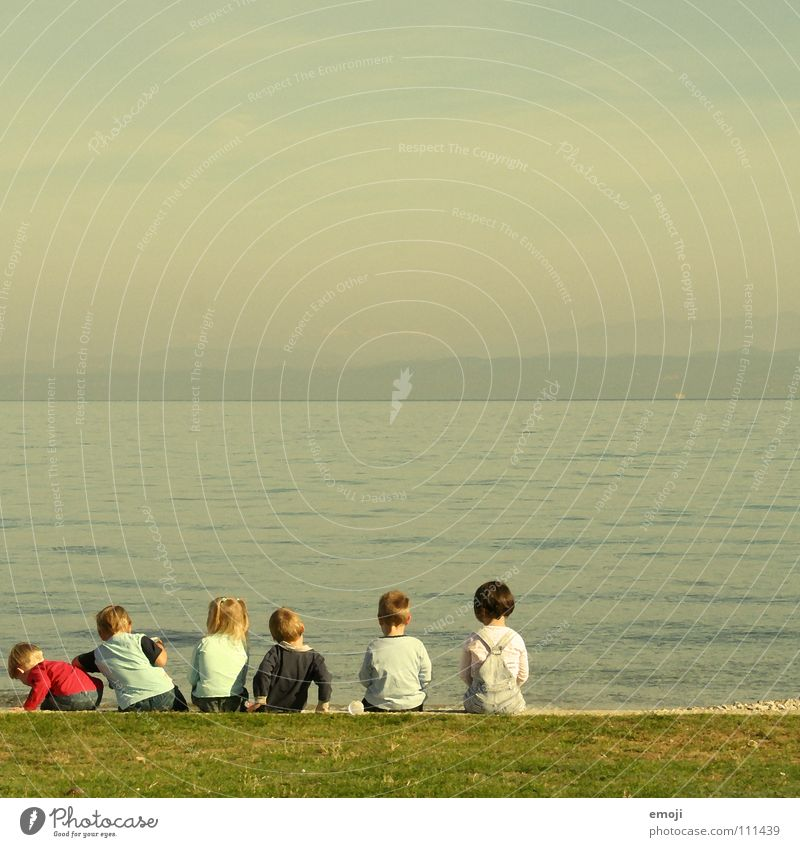 Child Sky Blue Water Green Ocean Summer Girl Joy Loneliness Calm Meadow Autumn Wood Spring Boy (child)