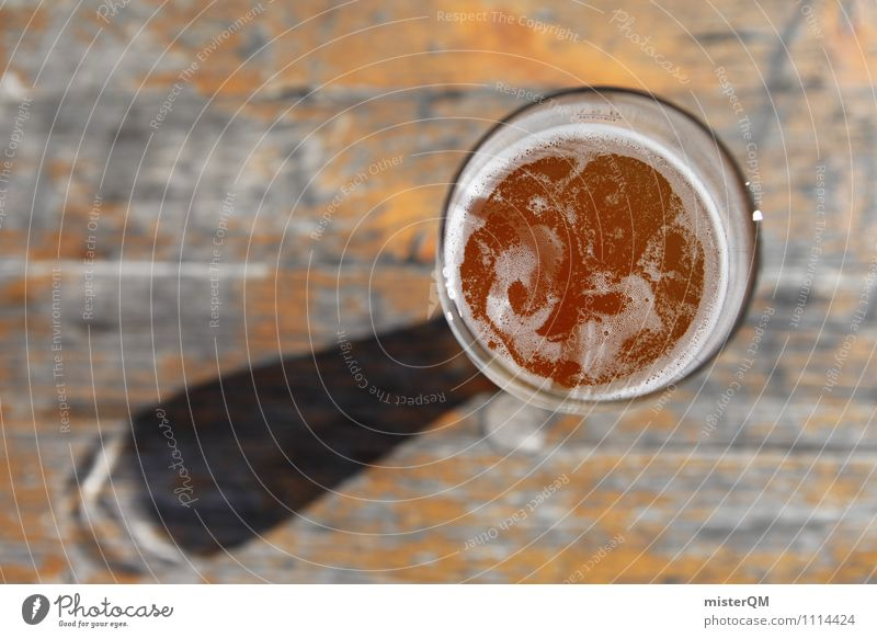Purity Law. Food Beverage Alcoholic drinks Beer Glass Esthetic Beer glass Thirst Froth Beer garden Exterior shot Lunch hour Colour photo Subdued colour Close-up