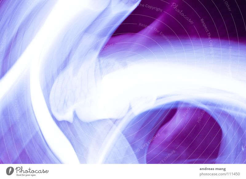 abstract art in purple Violet Stripe Lamp White Unclear Blur Long exposure Flashy Dark Art Design Abstract Work of art Line lines disturbed Colour glow Bright