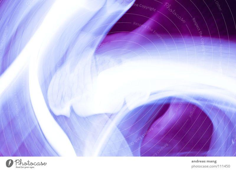 Abstract White Colour Lamp Dark Line Bright Art Design Modern Violet Stripe Unclear Flashy Work of art