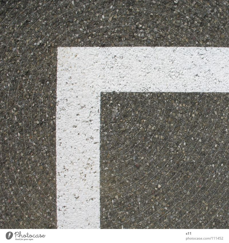 White Street Line Corner Asphalt Square Border Traffic infrastructure Parking lot Tar Sharp-edged