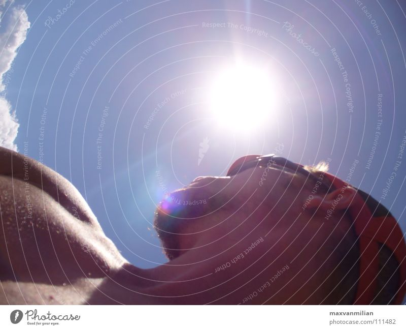 wanderlust Clouds Eyeglasses Cap Naked Man Sky Sun Human being Blue