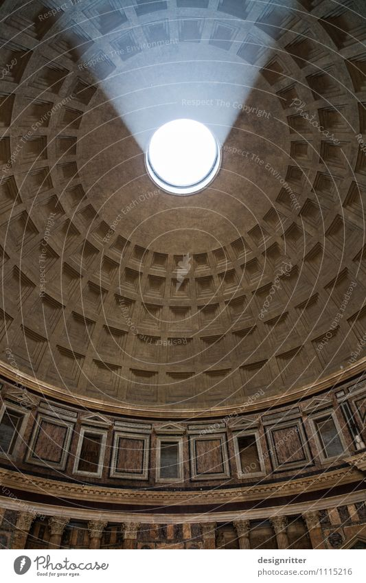 Dark Religion and faith Architecture Building Bright Church Large Italy Round Hope Belief Manmade structures Tourist Attraction Inspiration Dome Ceiling