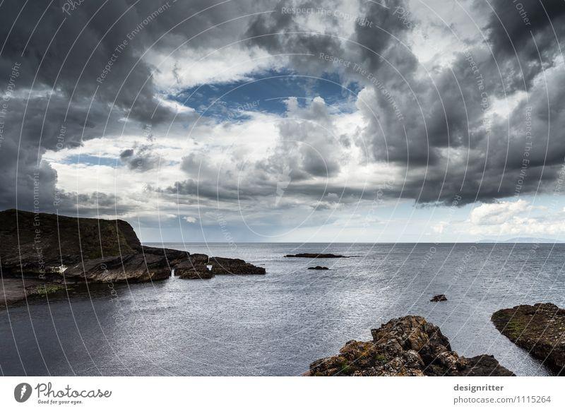 Ocean Clouds Far-off places Dark Coast Rock Rain Wild Weather Fear Wind Dangerous Climate Threat Adventure Bay