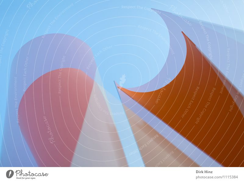 Sky Blue Movement Architecture Style Exceptional Line Art Orange Design Elegant Esthetic Point Simple Uniqueness Round
