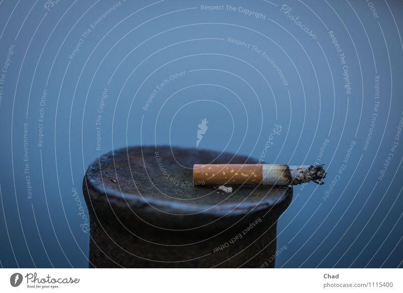 Blue White Healthy Brown Metal Contentment To enjoy Break Delicious Smoking Illness Smoke End Stress Intoxicant Cigarette