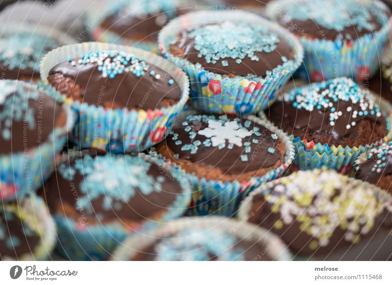 Second help? Food Dough Baked goods Dessert Candy Chocolate Coulored sugar candy Eating muffin pan Party Birthday Feasts & Celebrations To enjoy Fragrance