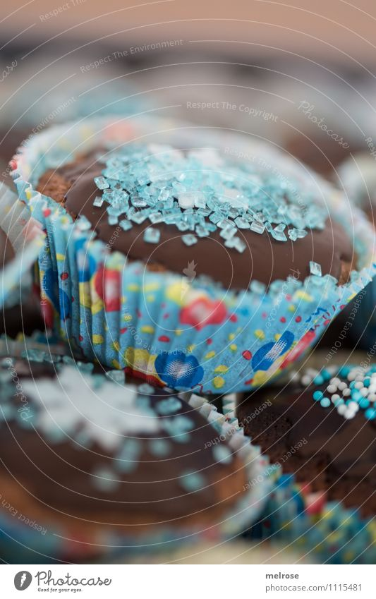 Chocolate muffins VI Food Dough Baked goods Cake Candy Nutrition Eating To have a coffee muffin paper cups Birthday cake Style Design Feasts & Celebrations