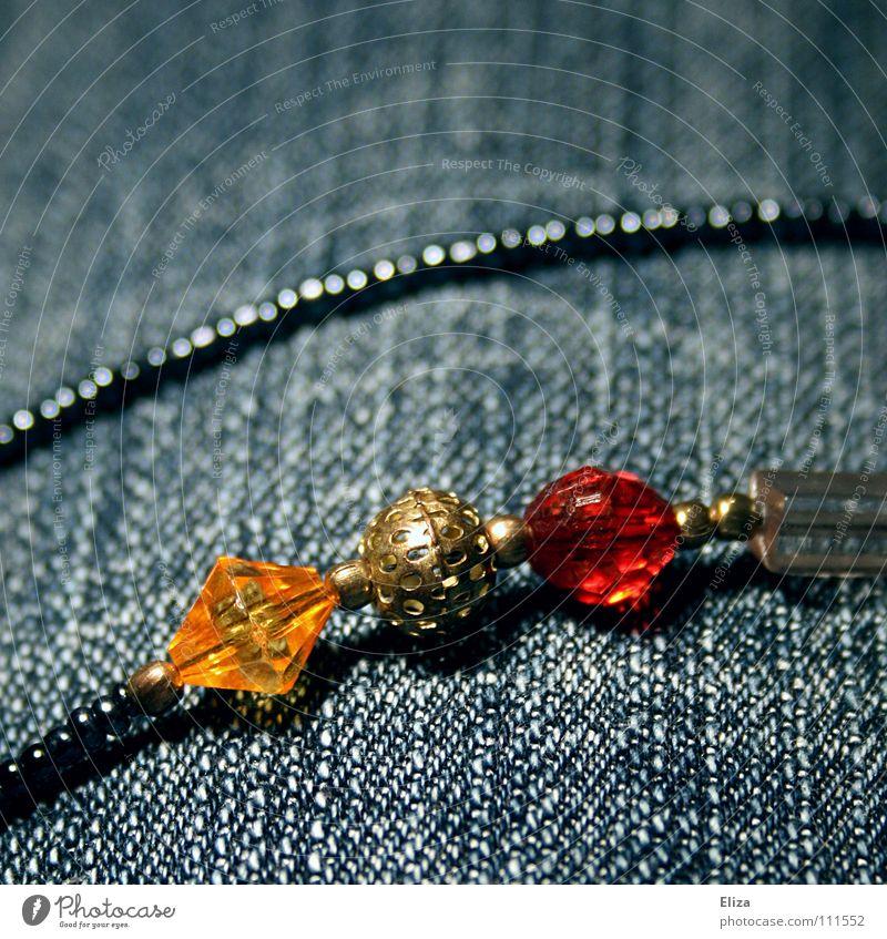 Beautiful Blue Line Gold 3 Jeans Near Decoration Pants Infancy Luxury Statue Jewellery Row Pearl Chain