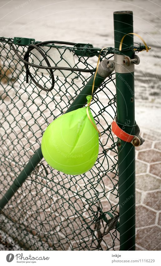 Old Loneliness Joy Emotions Feasts & Celebrations Moody Metal Party Lifestyle Gloomy Transience Change Balloon Plastic Fence Event