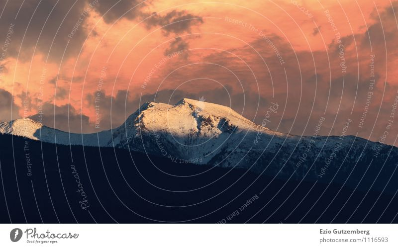 Alps, Tyrol, Schönberg, Stubaital, Austria Vacation & Travel Far-off places Freedom Winter Snow Environment Nature Landscape Elements Clouds Sunlight Climate