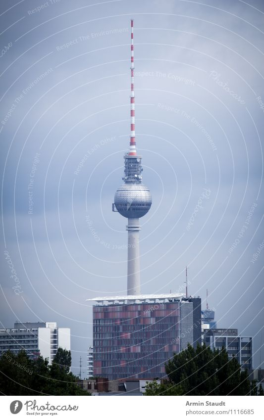 November Berlin Vacation & Travel Sky Autumn Winter Bad weather Fog Town House (Residential Structure) Tower Tourist Attraction Landmark Berlin TV Tower