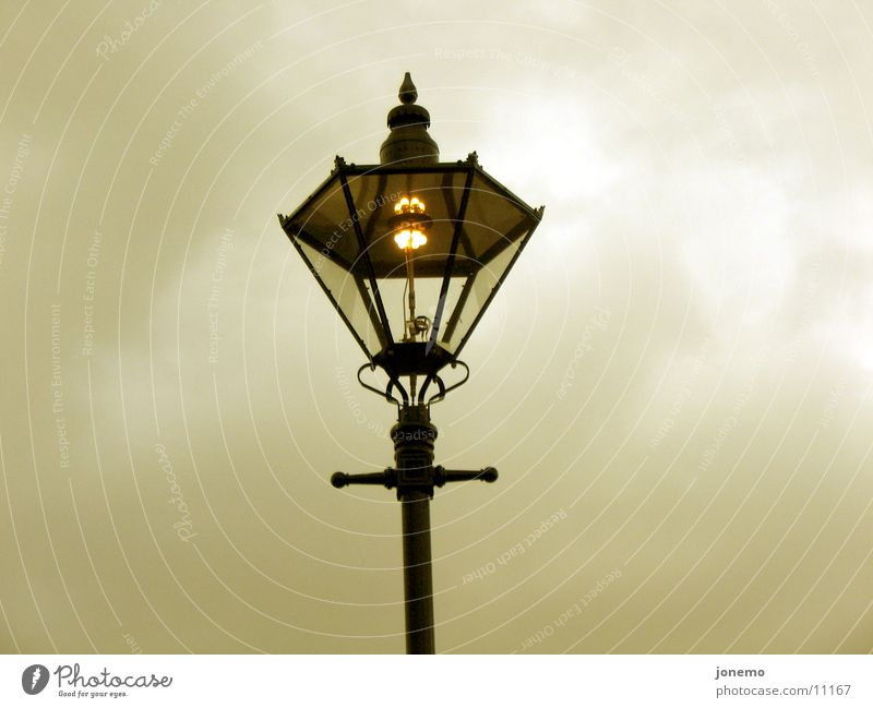 it's getting dark Street lighting Electric bulb Light Lamp Dark Night Evening Clouds Things