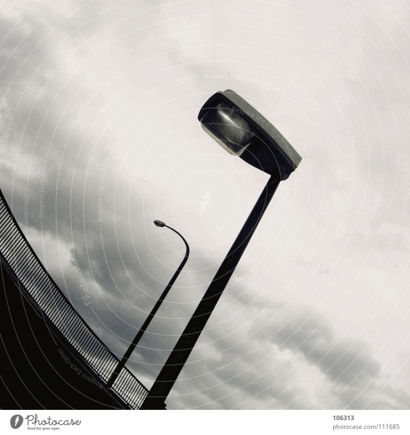 Sky Old City Winter Clouds Street Sadness Metal Lamp Bright Line Rain 2 Together Wait Modern