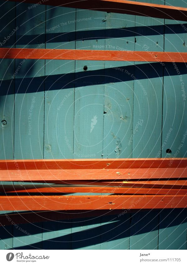 || Lines. Turquoise Brown Black Horizontal Diagonal Wood Wooden board Wall (building) Minimal Simple Graphic Beautiful Detail Autumn Blue Shadow Jane Tilt