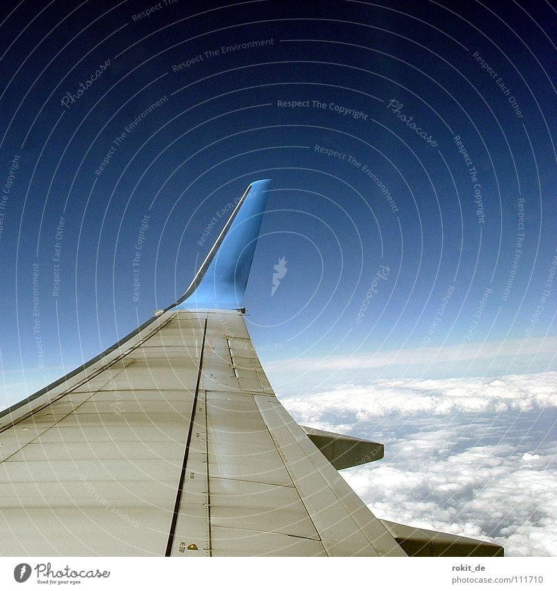 About Wolkenkuckucksheim... Airplane Landing flap Engines Cloud cover Clouds Lanzarote Window seat Vacation & Travel Aviation Flight Attendant Pilot Airport