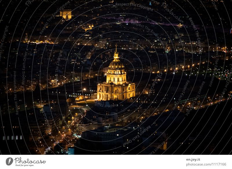 resting place Vacation & Travel Tourism Sightseeing City trip Night life Paris France Town Capital city Downtown Church Dome Palace Tower Manmade structures