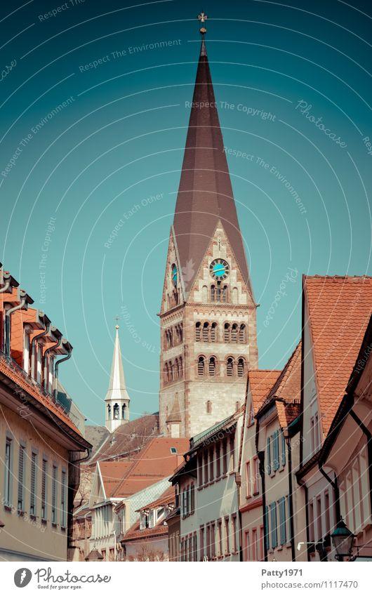Religion and faith Germany Tourism Europe Church Retro City trip Town Baden-Wuerttemberg
