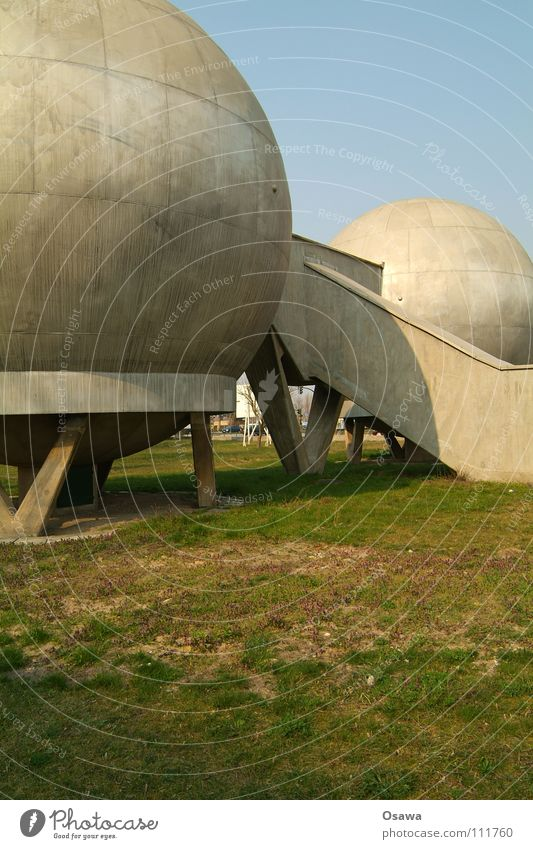 Berlin Architecture Building Concrete Industry Grief Manmade structures Science & Research Sphere Radiation Distress Nuclear Power Plant Adlershof Worst case scenario
