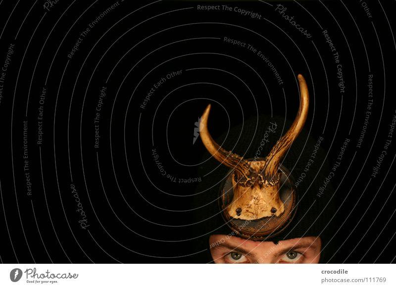 Black Eyes Dark Death Head Concentrate Mammal Antlers Nail Eyebrow Kill Camouflage Balaclava Trophy