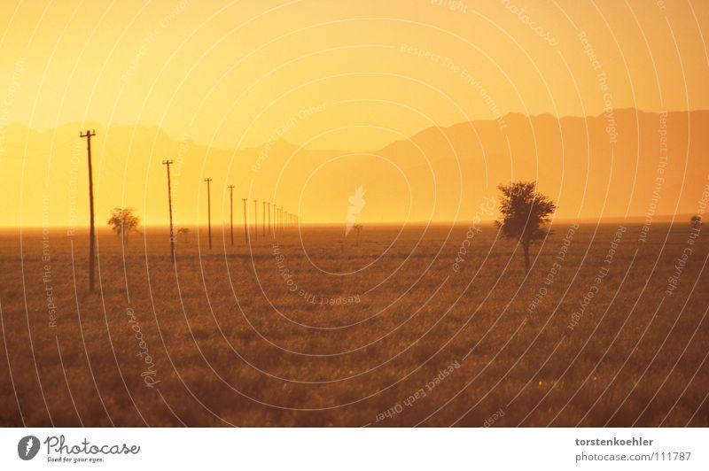 sunrise Namibia Namib desert Gale Sky Africa Desert loneliness sundowner Orange