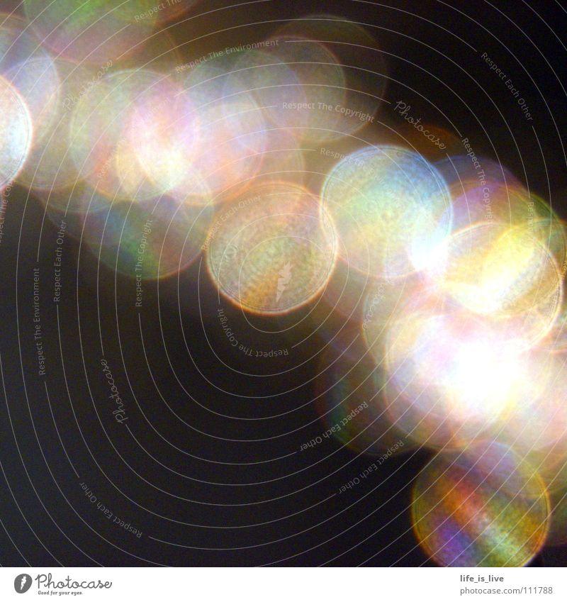 rainbow_colors_ Light Prismatic colors Black Circle Consecutively Colour Macro (Extreme close-up) Close-up Rainbow colorful and round Reflection gold hair