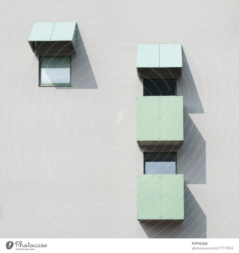 flat shadow Town House (Residential Structure) High-rise Building Architecture Facade Window Bright Geometry Symmetry Concrete Balcony Tenant Household
