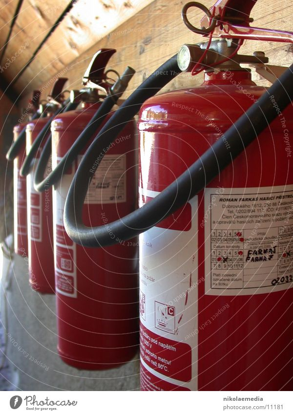fire extinguishers Extinguisher Petrol station Row Czech Republic Electrical equipment Technology