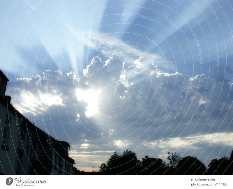 evening sky Clouds Radiation Sun Evening