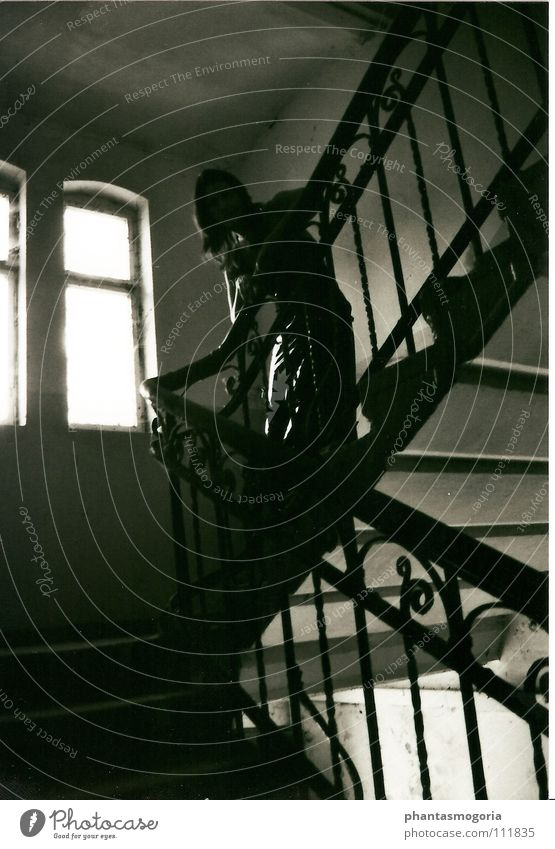Dark Architecture Stairs Transience Derelict Decline Past Historic Iron Varnish Gothic period Fetishism