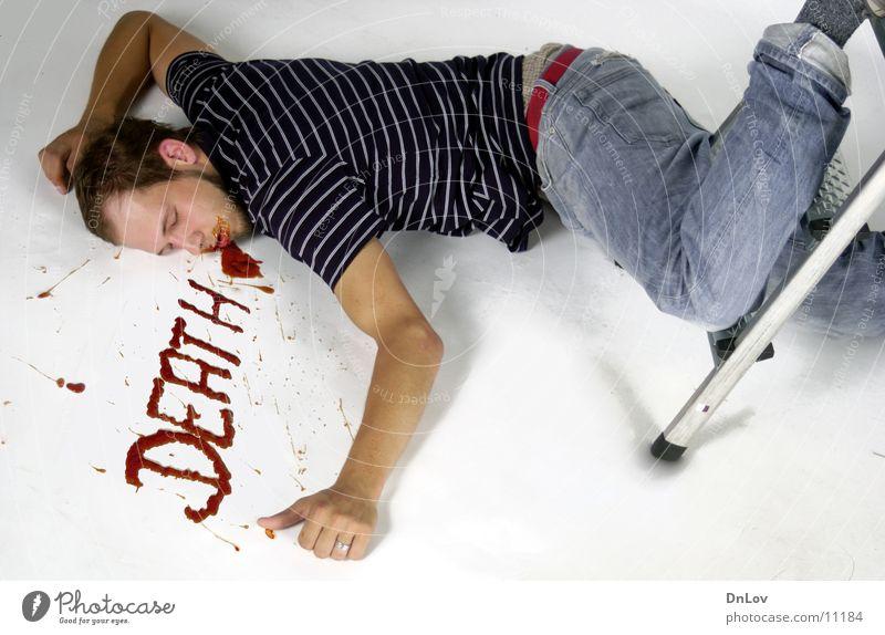 Man Death Sleep To fall Guy Ladder Blood Fellow